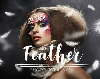40 Feather photo overlays, photoshop overlays, png overlays, feather overlay, kids overlay