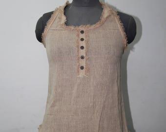 Natural cotton Button top
