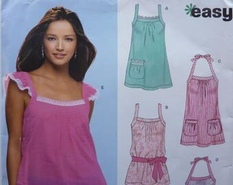 Easy Tops Pattern For Women New Look 6706 Size 6 - 16
