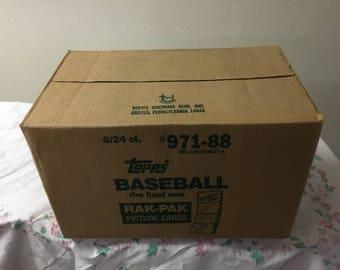Unopened sealed case of 1988 Topps Baseball  rak-Pak