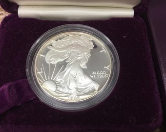1987 Proof Silver Eagle with box no paperwork
