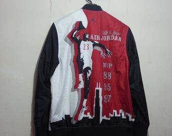 VINTAGE 90S micheal air jordan mvp player nba men jacket size M