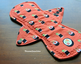 """10"""" Cotton Heavy Cloth Pad with Wings (CherryBlossoms)"""