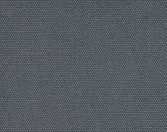 Dark Grey bench cushion, tufted seat cushion, chair pad cotton canvas Kaufman big sur canvas