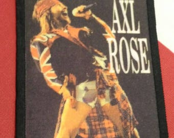 Axl rose !! vintage patch 90s . Guns n roses .for your collection !!