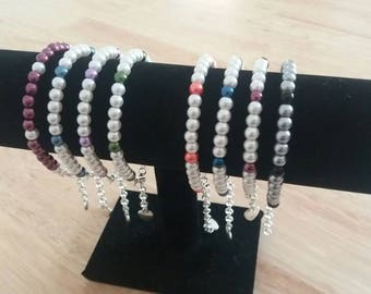 Glass pearl beaded bracelets