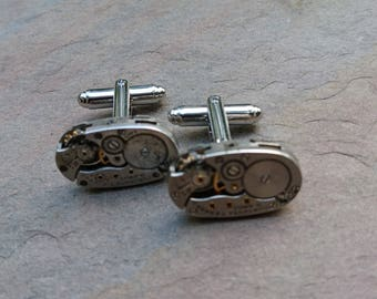 watch movement cufflinks