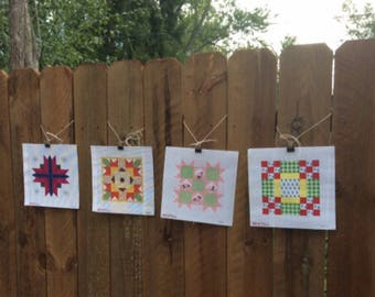Four seasons: four hand-painted needlepoint canvases