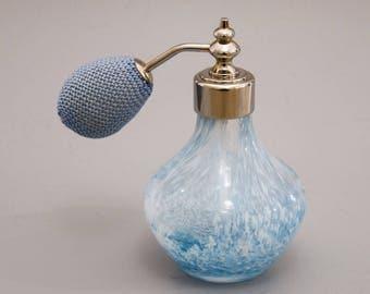 Caithness Blue and White Swirl Perfume Bottle