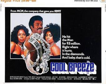 Summer Sale COOL BREEZE Movie Poster Blaxploitation Shaft Dolemite