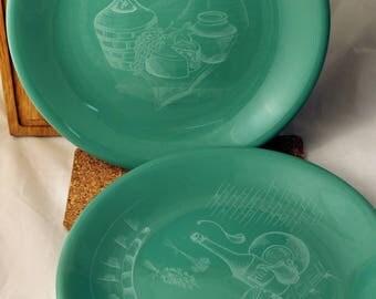 Green ceramic plate, big size dish, gift hostess, ceramic dinnerware, custom plate, stoneware, pottery plate, grandmother gift, gift for mom