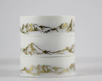 Washi tape gold foil tape mountain