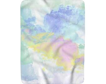 Little Fluffy Clouds Sherpa Fleece Blanket