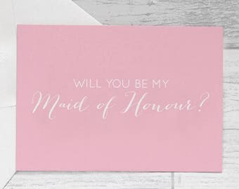 Maid of Honour Card -  Will You Be My Maid Of Honour Card