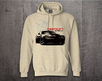 Dodge Challenger Demon hoodie, Cars hoodies, Dodge hoodies, Men hoodies, funny hoodies, Cars t shirts, Unisex Hoodies, Challenger Demon