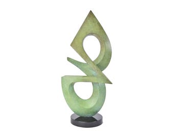 Charles Strain Modernist Abstract Bronze Sculpture Missouri Artist