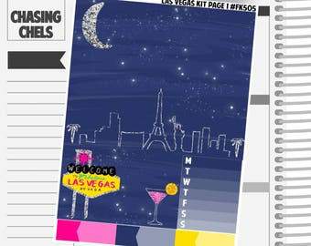 Las Vegas Collection #FK505-511 Premium Matte Planner Stickers