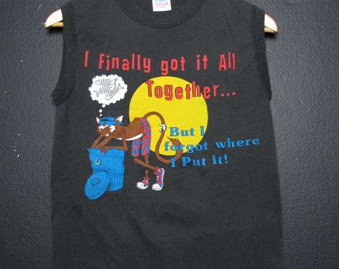 I finally Got it All Together... 1990's Sleeveless Vintage Tshirt