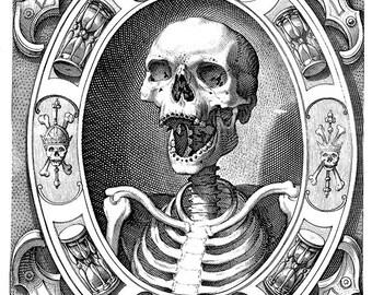 Vanitas medieval death memento mori digital