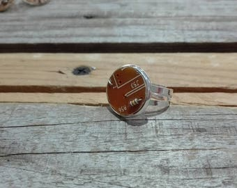 Round orange circuit board ring