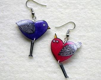 """birds mobile"" earrings"