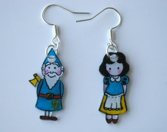 snow white and one of the dwarves...