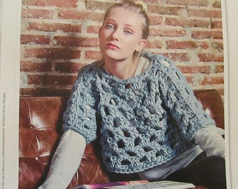 1 page to make crochet crop sweater