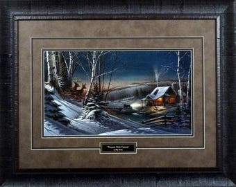 Terry Redlin Evening with Friends Framed  28.5 x 20.5