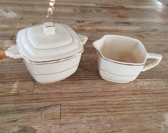 Crescent China Company Cream and Sugar Bowls