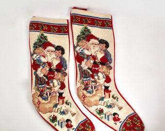 Needlepoint stocking | Etsy