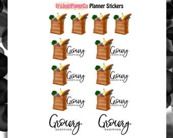 Grocery Shopping (Planner Stickers)