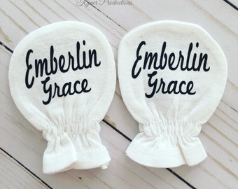 Personalized Newborn Hand Mittens