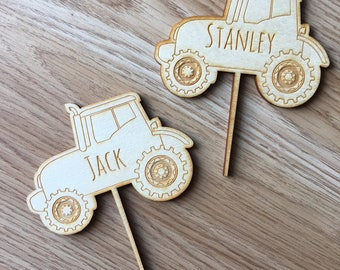 tractor cake topper, tractor party, farm party, party decorations, birthday decor, birthday party decorations, first birthday decorations