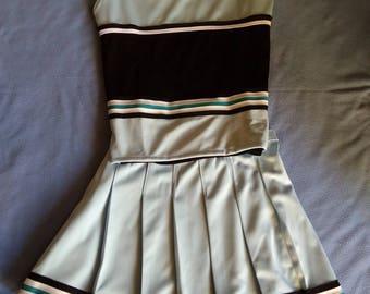 Light Blue Cheerleader Uniform Dance Halloween Costume Adult