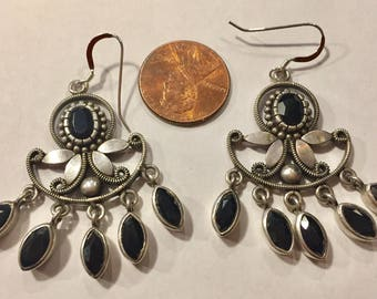 Sterling Silver And London Topaz Chandelier Earrings