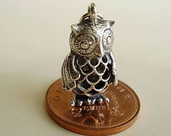 Sterling Silver filligree OWL charm