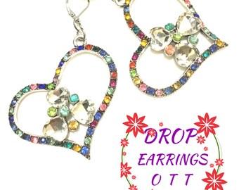 Huge Open Heart Earrings, Unique Heart Earrings, On Trend Earrings, Stunning Heart Earrings,Sweetheart Gift, Earrings OTT, Valentine Gift
