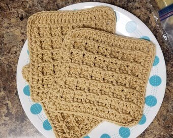 Cotton waffle dishcloths