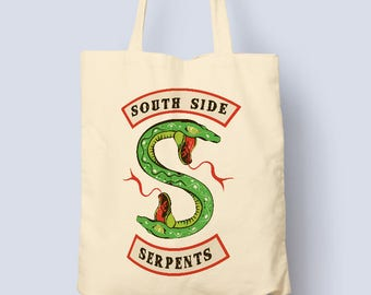 Designer Riverdale SouthSide Serpents Tote Bag