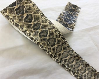 Authentic Rattlesnake Skin, Eastern Diamondback Rattlesnake, leathers, scale, project supplies, snake, exotic, real, diamond back, hide, a