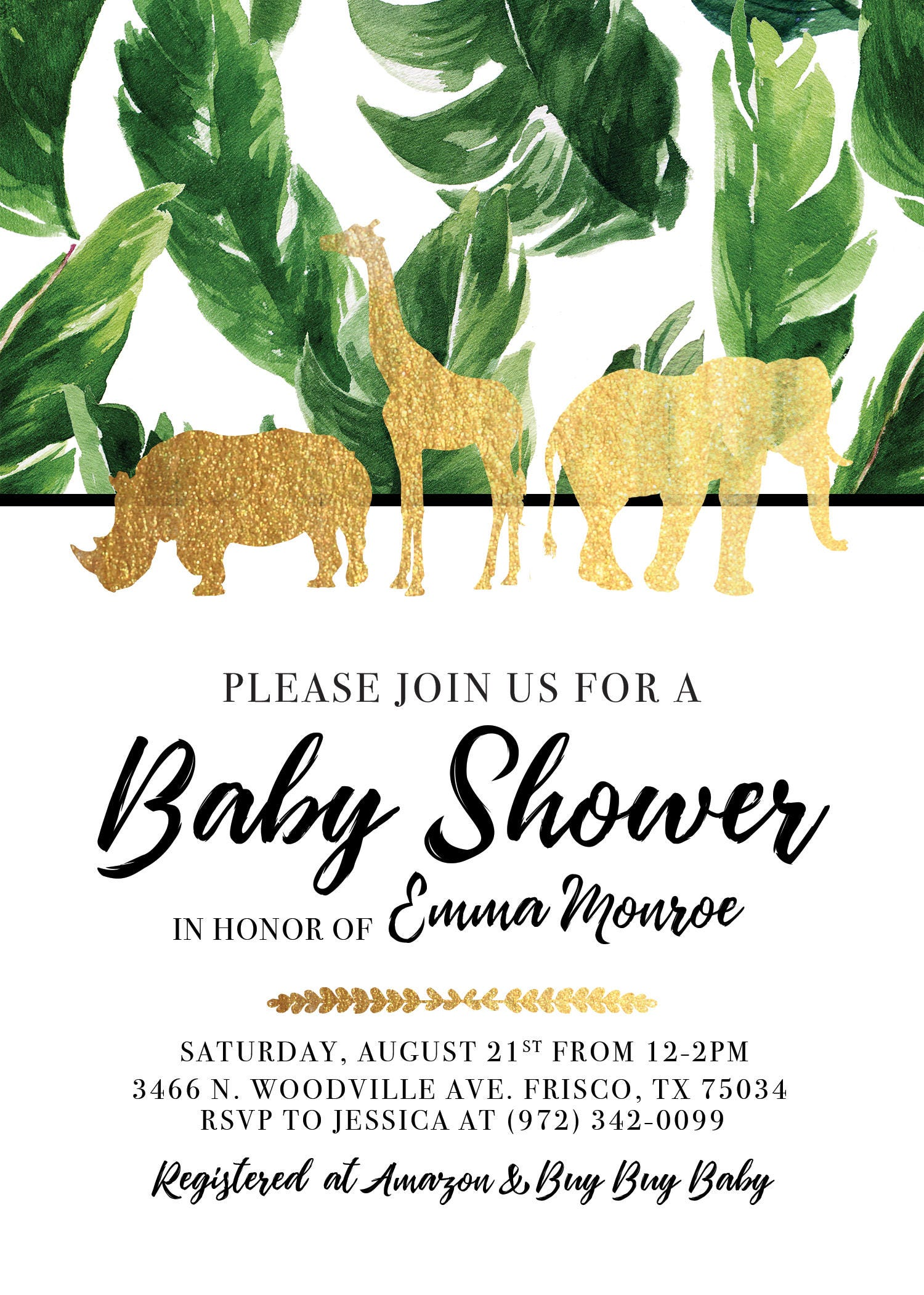 animals baby shower size with invitations count jungle large safari products envelopes