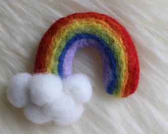 Felted Rainbow Baby Clouds Newborn Prop