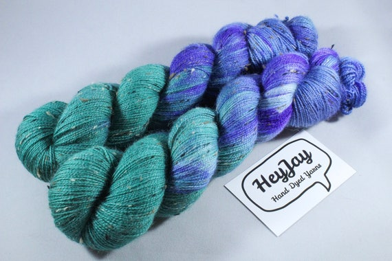 Donegal Tweed Sock Yarn - BFL - Trident