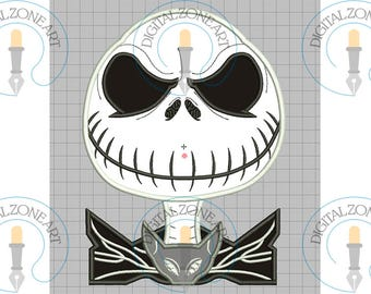 Jack Skellington Applique-Jack Skellington Portrait Head-Movie-Machine Embroidery Designs - INSTANT DOWNLOAD