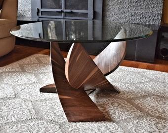 Mahogany/Walnut Coffee Table (Beginnings) - Solid hardwood, hand-crafted...