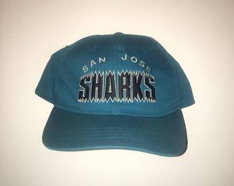 Vintage San Jose Sharks YOUTH Starter Snapback