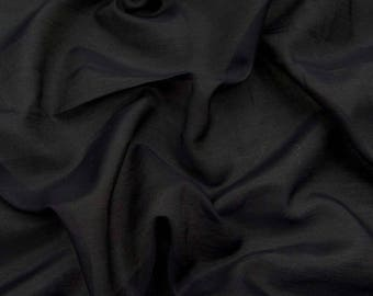"Black Cotton Silk Fabric, Dress Material, Sewing Crafts Fabric, Antique Fabric, 44"" Inch Fabric By The Yard ZCS1L"