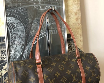 Louis Vuitton Monogram Canvas Papillon 30 Satchel Vintage