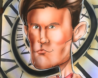 Matt Smith Doctor Who 11th Doctor Caricature