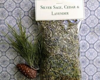 Sage Cedar & Lavender Herbal blend, Perfect for Smudge, New Home Blessing, Creating Sacred Space, Spiritual Meditation, 1.5 oz, 43 grams